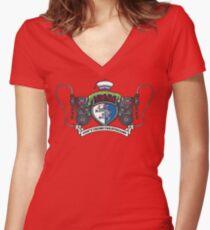 Venkman Family Crest Women's Fitted V-Neck T-Shirt