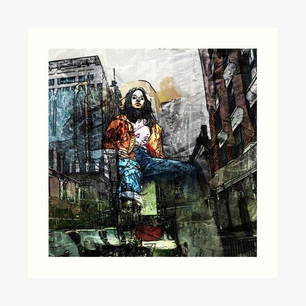 She Dreams of the City Art Print