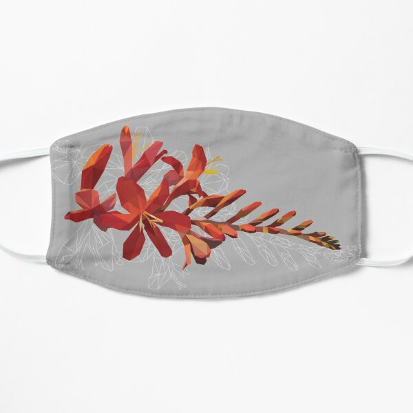 Blooming Poly Crocosmia Flat Mask
