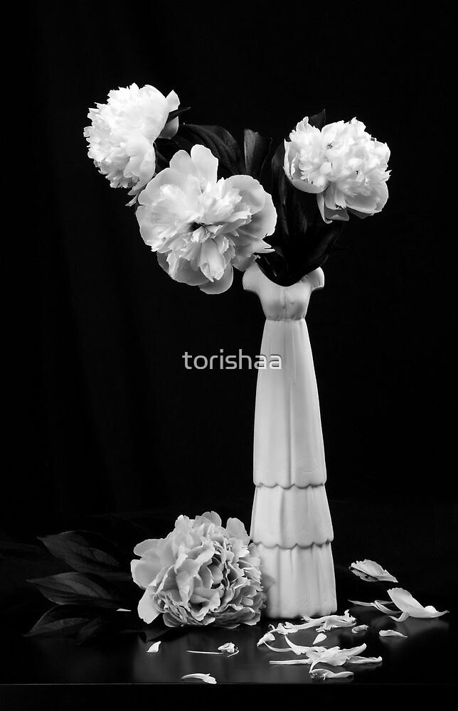 Still life with beautiful  peonies by torishaa
