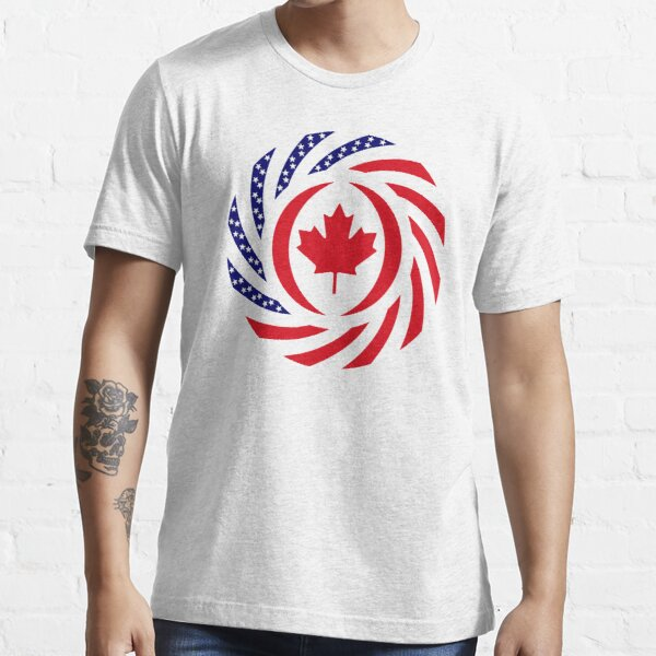 Canadian American Multinational Patriot Flag Series Essential T-Shirt