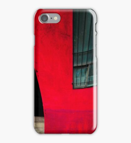 Red building iPhone Case/Skin