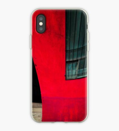 Red building iPhone Case