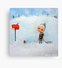 Letters To Santa Canvas Print