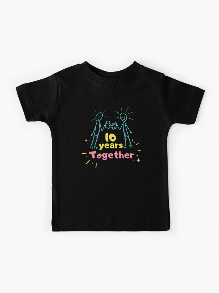 10th Year Anniversary Wedding Gifts For Couple Mr And Ms Wife Lovers Valentine Day Kids T Shirt By Mustafatolba16 Redbubble