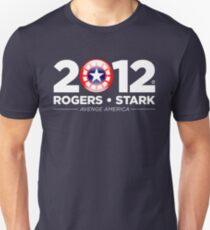 Vote Rogers & Stark 2012 (White Text) T-Shirt