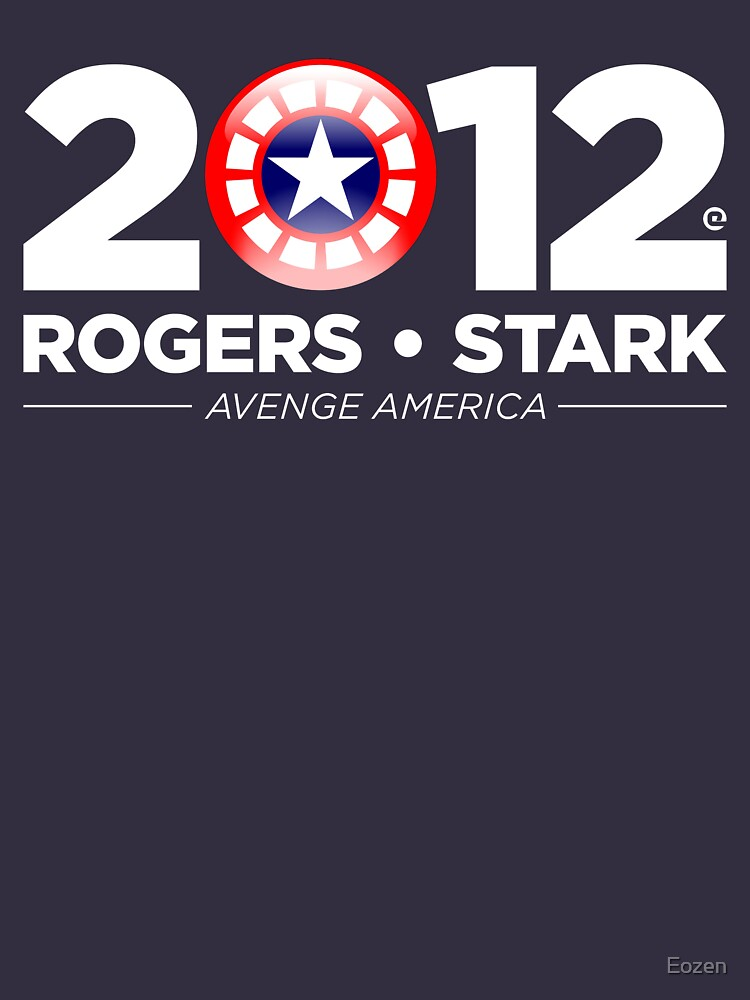 Vote Rogers & Stark 2012 (White Text) | Unisex T-Shirt