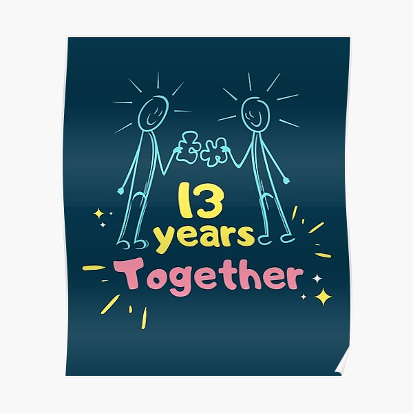 13th Wedding Anniversary Posters Redbubble