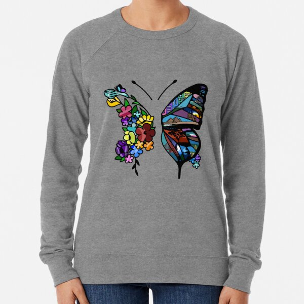 Blooming Butterflies Lightweight Sweatshirt