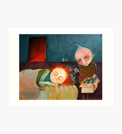 Bad Dreams Catcher Art Print