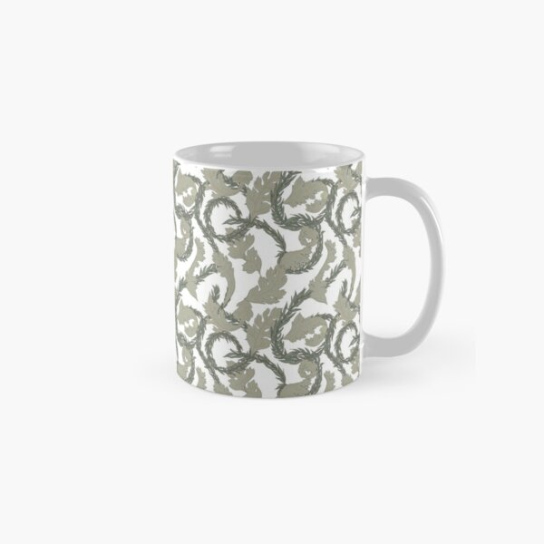 Acanthus Leaves Old Fashioned Floral Pattern Classic Mug