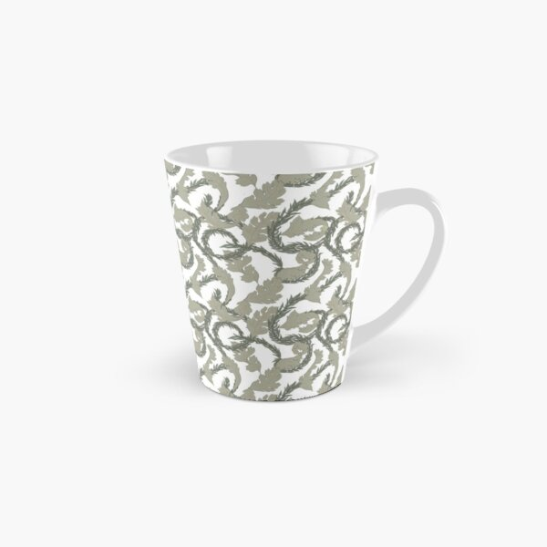 Acanthus Leaves Old Fashioned Floral Pattern Tall Mug