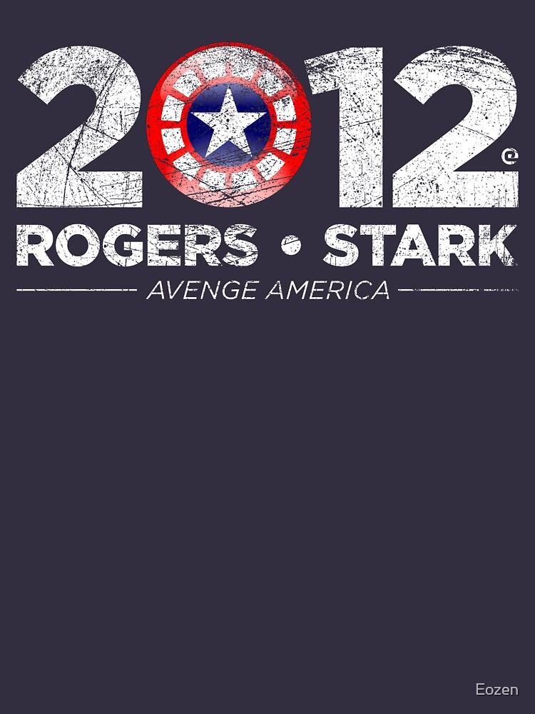 Vote Rogers & Stark 2012 (White Vintage) | Unisex T-Shirt