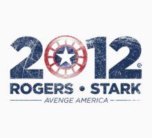 Vote Rogers & Stark 2012 (Blue Vintage)