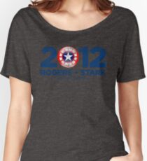 Vote Rogers & Stark 2012 (Blue Vintage) Women's Relaxed Fit T-Shirt