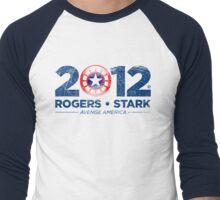 Vote Rogers & Stark 2012 (Blue Vintage) Men's Baseball ¾ T-Shirt