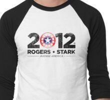 Vote Rogers & Stark 2012 (Black Vintage) Men's Baseball ¾ T-Shirt