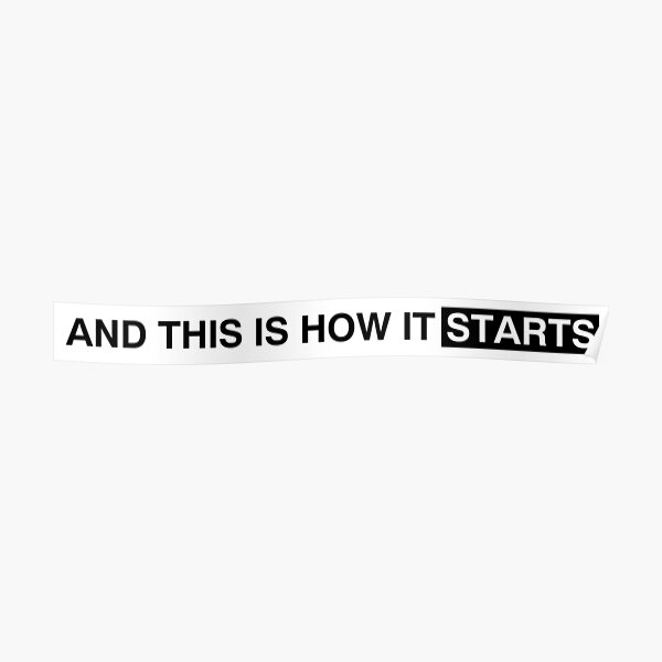 and this is how it starts Poster