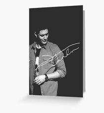 Jensen Ackles Greeting Card