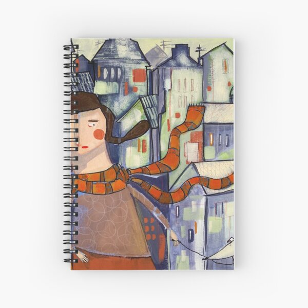 City girl and her whippet Spiral Notebook