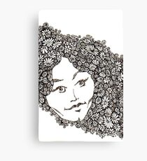 Flower Woman Canvas Print