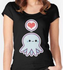 Cute Blue Octopus Women's Fitted Scoop T-Shirt