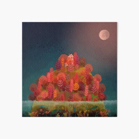 Autumn Island Art Board Print