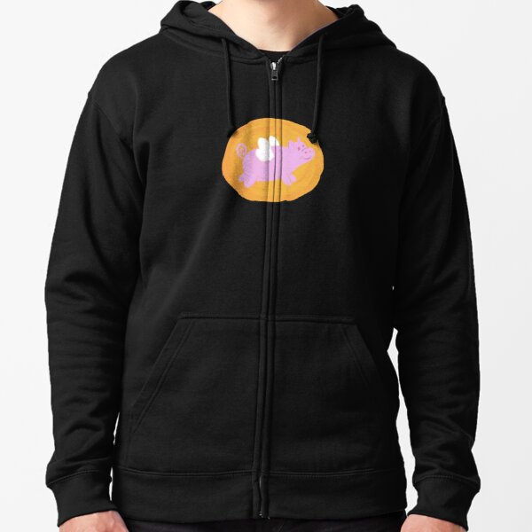 Peggy Pig Goes Flying Zipped Hoodie