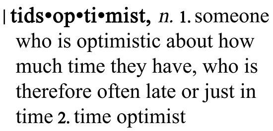 Tidsoptimist