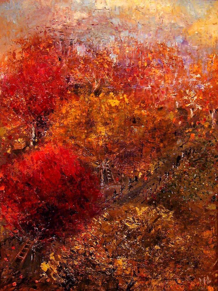 Autumn Orchard by Monica Blatton