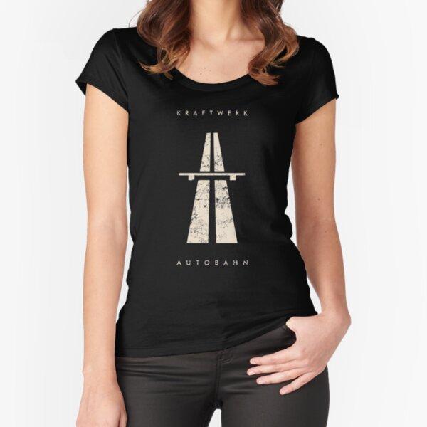 Kraftwerk autoroute vintage blanc T-shirt échancré