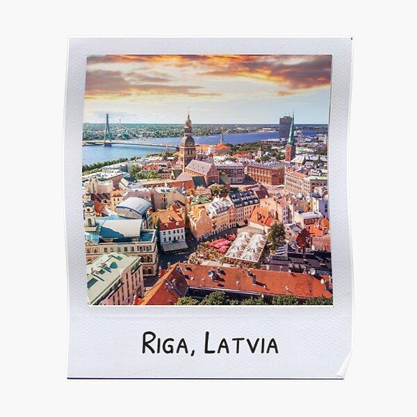 Polaroid of Riga, Latvia Poster