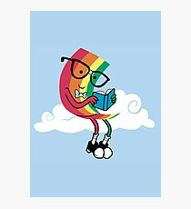 Reading Rainbow Photographic Print