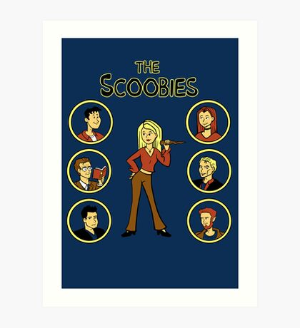 Buffy and the Scooby Gang Art Print