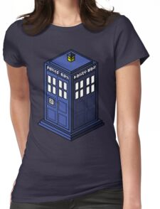 Pixel Tardis Womens Fitted T-Shirt