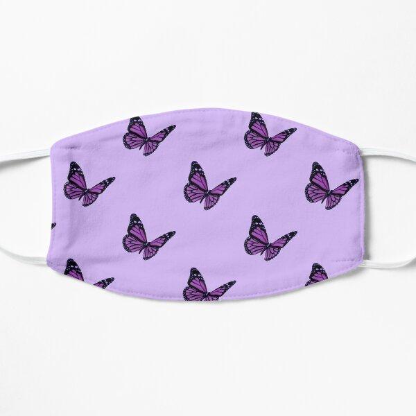 aesthetic purple butterfly Flat Mask