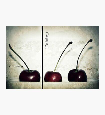 Cherries in Paisley Photographic Print