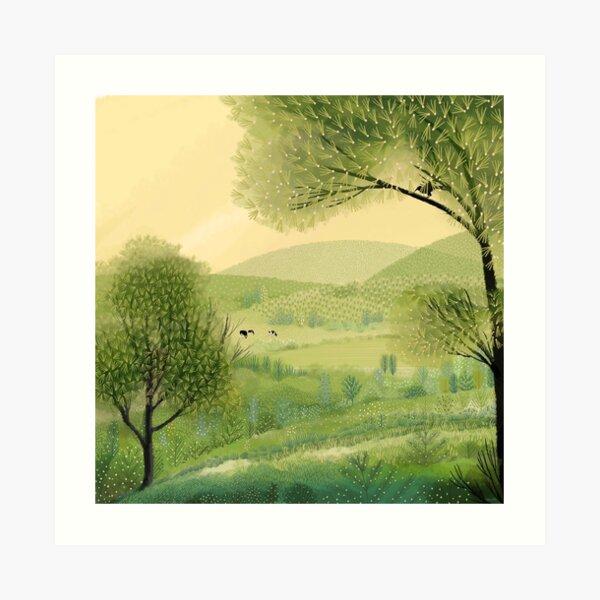 Pastures Green Art Print