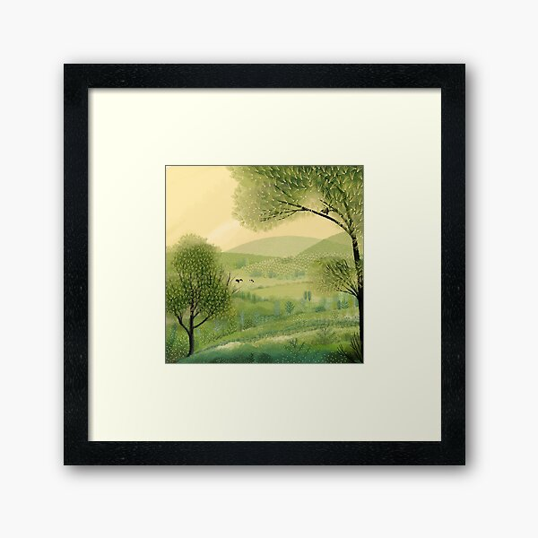 Pastures Green Framed Art Print