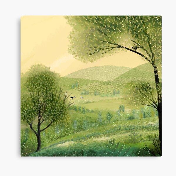Pâturages verts Impression sur toile