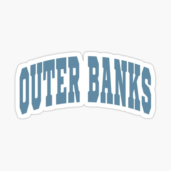Outer Banks Varsity Lettering Design Sticker