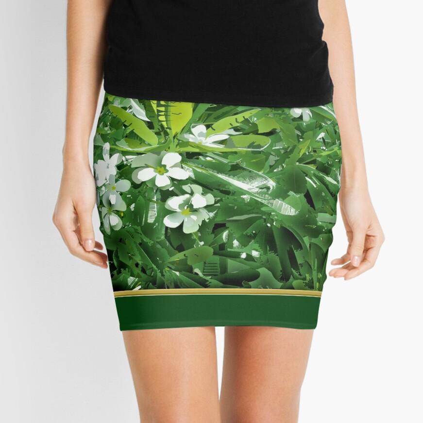 Plumerian Lights Mini Skirt