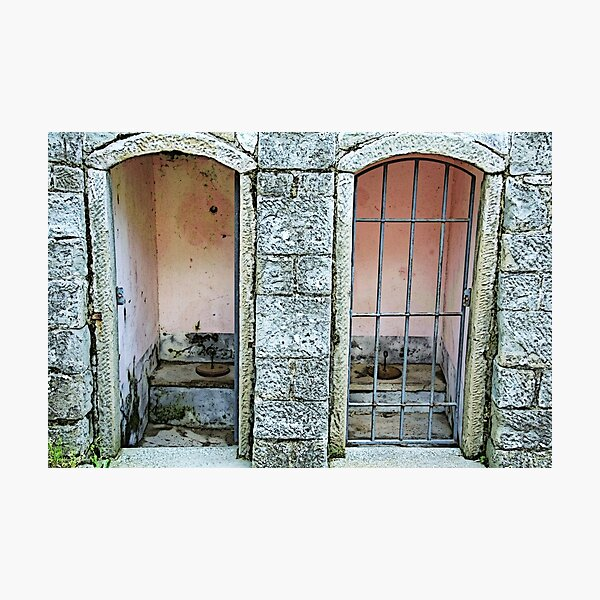 Old toilet in Lucolena - Toscana Photographic Print