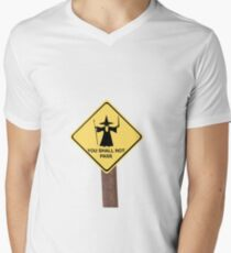 YOU SHALL NOT PASS roadsign Mens V-Neck T-Shirt