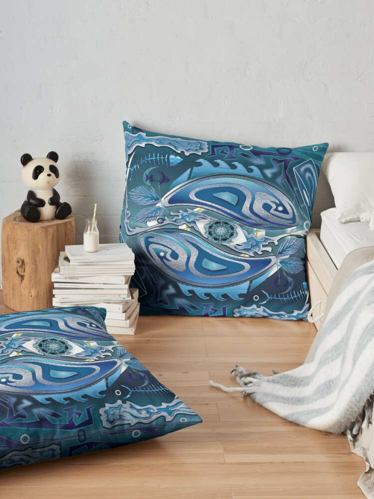 Alternate view of Water Life Cycle Floor Pillow