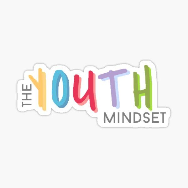 """The Youth Mindset"" classic logo Sticker"