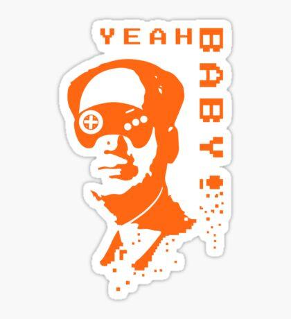 YEAH BABY Chairman Mao Sega Genesis Forever Sticker