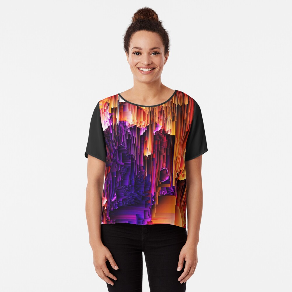 Fragmented Confusions Chiffon Top