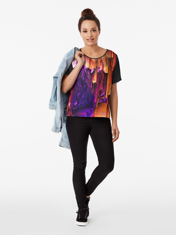 Alternate view of Fragmented Confusions Chiffon Top