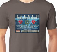 ZOMBIE HUNTING LICENSE Unisex T-Shirt